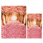 Оригинал Cherry Blossom Grove Forest Тематическая фотография Vinyl Backdrop Studio Background 2×1.5m 1.5×0.9m