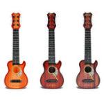 Оригинал 4 строки Случайный цветной пластик Ukulele Uke Музыкальная игрушка для детей Подарок