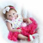 Оригинал NPK 18 дюймов 46cm Reborn Baby Soft Силиконовый Кукла Handmade Lifeike Baby Girl Куклаs Play House Toys День рождения