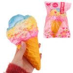 Оригинал Eric Мороженое Squishy Toy 19CM Super Slow Rising Strap Squeeze Хлебный торт Подарок с упаковкой