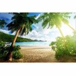 Оригинал 7x5ft Seaside Пляжный Летняя тематическая фотография Vinyl Backdrop Studio Background 2.1mx 1.5m