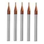 Оригинал Drillpro 5шт 1мм 4 Флейты Фрезерный фрезерный станок для фрезерования вольфрама HRC55 AlTiN