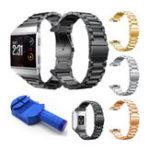 Оригинал Замшевая застежка из нержавеющей стали Стандарты Замена браслетов для Fitbit Ionic Watch