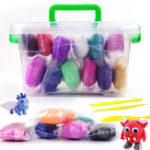 Оригинал 12pcs Air Clay Modeling Clay Light DIY Soft Creative Handgum Пластилиновая глина Обучающие игрушки
