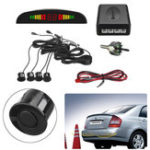 Оригинал Авто Реверсивная система 4 Стоянка Датчик Радар Набор LCD Визуальная сигнализация зуммера