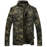 Оригинал Mens Camo Printing Военный Хлопок На открытом воздухе Эпоэлетная куртка