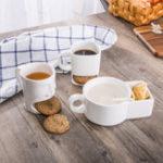 Оригинал КерамическийКубокПеченьяДунк-кружкасдержателем печенья Форма лица Печенье Керамический Кофе Чай Кружка