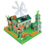 Оригинал 260PCs Solor Energy Toy Greenex Green Energy Paradise Wind Power 3D Building 100% Батарея Бесплатно