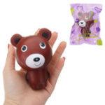 Оригинал Squishy Bear Cartoon Animal Slow Rising Soft Коллекция подарков Декор Игрушка с упаковкой