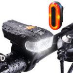 Оригинал XANESSFL-01600LMXPG+2 LED Велосипед Smart Датчик Передний свет велосипеда STL03 100LM IPX8 Велосипед Задний комплект