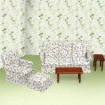 Оригинал DIY Dollhouse Accessory 2 * Таблица + 3 * Набор мебели для дивана Kids Doll House Toy