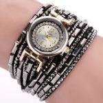 Оригинал DUOYA D064 Crystal Casual Style Ladies Bracelet Watch