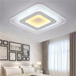 Оригинал 52W 64W 3 цвета Dimmable Modern Ultrathin LED Потолочный светильник Декоративный абажур для гостиной