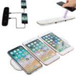 Оригинал 3 в 1 QI Беспроводное зарядное устройство 12V / 3A Зарядное устройство с USB-зарядным устройством для Samsung 8 iPhone 8 X