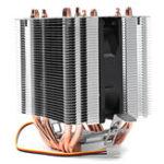 Оригинал DC 12V 4Pin 2200RPM Охлаждающий вентилятор охлаждения охладителя для Intel AMD