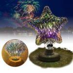 Оригинал E27 3W 3D Star Flat Diamond Fireworks LED Декоративная лампа для вечеринки Christmas AC220V
