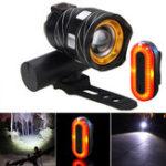 Оригинал XANESZL01800LMT6Велосипедныйфонарь 3 режима Водонепроницаемы и STL03 100LM IPX8 Bicycle Taillight Set