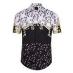 Оригинал Мужская летняя мода 3D-печать с коротким рукавом Пляжный Рубашка