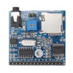 Оригинал DC 5V 1A Плата модуля воспроизведения голоса MP3 Голосовые подсказки Голосовое вещание для Arduino Поддержка MP3 / WAV 16GB TF Card