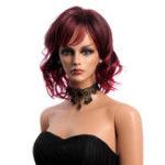 Оригинал 14 дюймов Короткие вьющиеся синтетические Волосы парики KANEKALON Side Bang