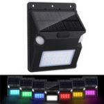 Оригинал 12 светодиодных солнечных батарей Водонепроницаемый Wal Light с двойным датчиком движения 7 Цвет Changing for Outdoor Yard