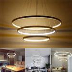 Оригинал LED Потолок Кулон Держатель для окуляра с кольцами для шнурка Лампа Тени для гостиной Home Decor Room AC220V