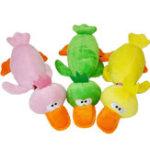 Оригинал Pet Puppy Собака Chew Toys Плюшевая звуковая утка для маленьких Собакаs 3 цвета