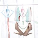 Оригинал Творческий стеллаж для сушки обуви с 360 градусами вращения Складная сушка Вешалка Одежда для стойки Носки Вешалка Стойки для подвешивания