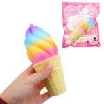 Оригинал Colorful Мороженое Squishy 10CM Super Slow Rising Cream Ароматизированный оригинальный пакетный ремешок для телефона