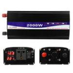 Оригинал 2000W Пик 12V / 24V / 48V до 220V Чистый синусоидальный инвертор мощности Digital Дисплей Home Converter