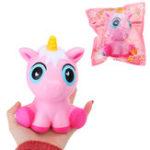 Оригинал Мультяшный Squishy Unicorn 15CM Jumbo Slow Rising Phone Strap Кулон Игрушка для малышей с упаковкой