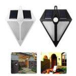 Оригинал 6 LED Солнечная Powered Водонепроницаемы PIR Движение Датчик Настенный светильник На открытом воздухе Сад Ночь Sercurity Лампа