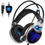 Оригинал Sades R8 Игровая гарнитура USB Virtual 7.1 Light Surround Sound PC Gamer Headphone с разрешением Микрофон