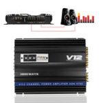Оригинал 3800 Вт RMS 4-канальный 4 Ом Мощный Авто Аудио мощность Стерео Усилитель Amp