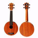 Оригинал Enya EUR-X1 21 дюймов Циркулярная форма HPL KOA Ukulele Uke Гавайи Музыкальный инструмент