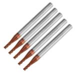 Оригинал Drillpro 5шт 2мм 4 Флейты Фрезерный фрезерный станок для фрезерования карбида вольфрама HRC55 AlTiN