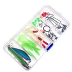 Оригинал LEO52pc/lotРыбалкаПриманки для смешивания Hard Soft Приманки для крючков Вертлюги Рыбалка Набор для заманки с памятью Коробка
