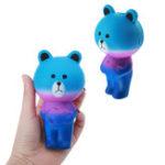 Оригинал Звездный медведь Squishy 12см Медленный рост Soft Animal Collection Gift Decor Toy