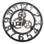 Оригинал 45см Современное искусство Дизайн Бесшумный Стена Часы Металл железа Винтаж Ретро 3D Промышленная Европа Стиль для гостиной Столовая Спаль