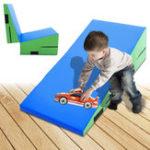 Оригинал 47.2×23.6×13.7inchНаклоннаягимнастикаКлинРампаМаты Складная Фитнес Tumbling Children Safety Pad
