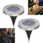 Оригинал 2Pcs Солнечная Buried Light 4 LED Белый свет На открытом воздухе Водонепроницаемы Опалубка Лампа для Сад Пейзаж
