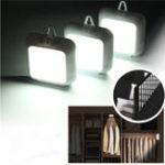 Оригинал 3 шт. 6 LED Батарея Powered PIR Датчик движения Белый свет Ночь Лампа для кабинета Прихожая Вход