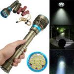 Оригинал Подводный 180m T6 7x XM-L2 40000LM 3Modes Дайвинг-фонарик Dive Torch Лампа