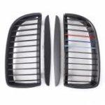 Оригинал M Матовая черная решетка решетки для почтового ящика для BMW E90 Sedan Wagon 2005-2008
