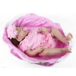 Оригинал 55cm Real Life Reborn Baby Girl Кукла Full Body Soft Винил Силиконовый Baby Кукла Подарок