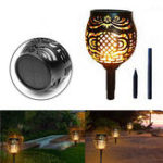 Оригинал 96 LED 45LM Солнечная Powered Torch Light На открытом воздухе Мерцающее пламя Лампа для пути Сад Пейзаж