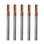 Оригинал Drillpro 5шт 4мм 4 Флейты Фрезерный фрезерный станок для фрезерования карбида вольфрама HRC55 AlTiN