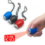 Оригинал VSTCL-001Электронныймини-портативныйцифровойLED Время проекции Часы с брелками для рождения ребенка
