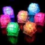 Оригинал Батарея Powered LED Ice Cube Colorful Проблесковый маячок Датчик Погружной декор для бара Свадебное