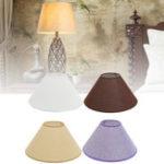 Оригинал 13 * 36 * 18CM Потолок Лампа Тень Хлопок Текстурированная ткань Стол для столов из ПВХ Лампаshape